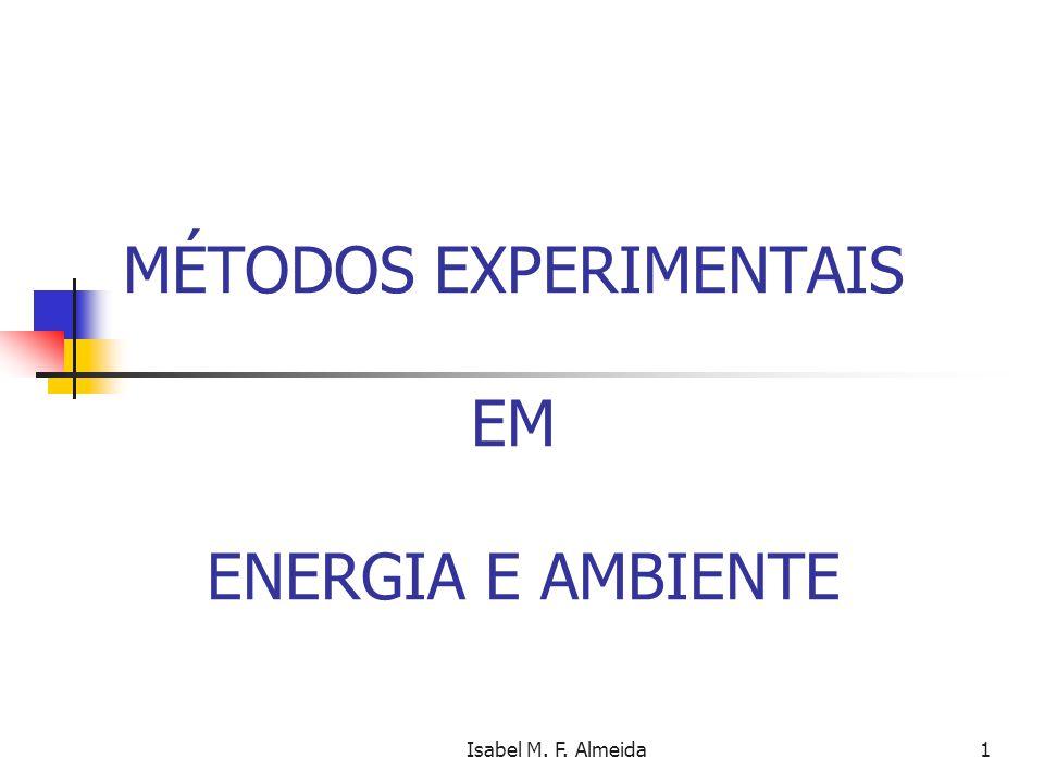 MÉTODOS EXPERIMENTAIS EM ENERGIA E AMBIENTE