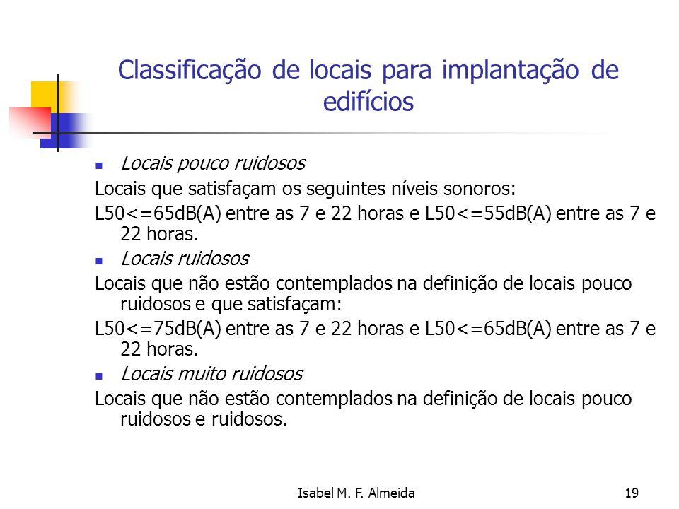 Classificação de locais para implantação de edifícios