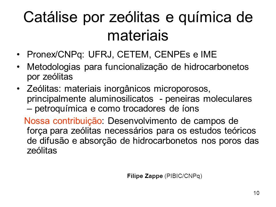 Catálise por zeólitas e química de materiais