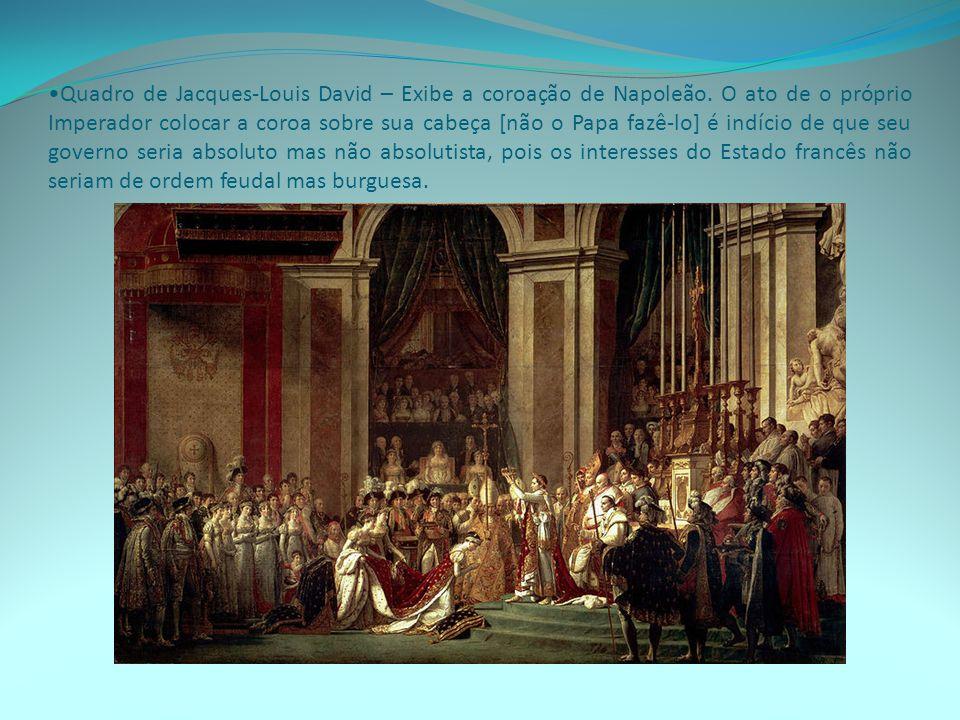 Quadro de Jacques-Louis David – Exibe a coroação de Napoleão