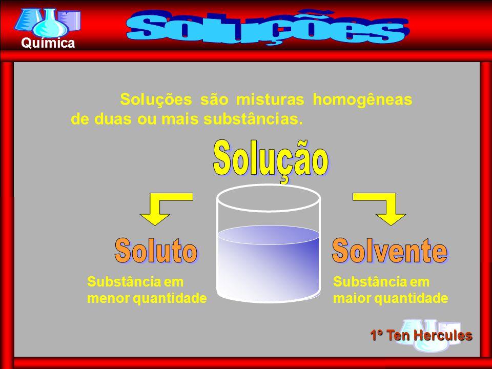 Soluções Solução Soluto Solvente