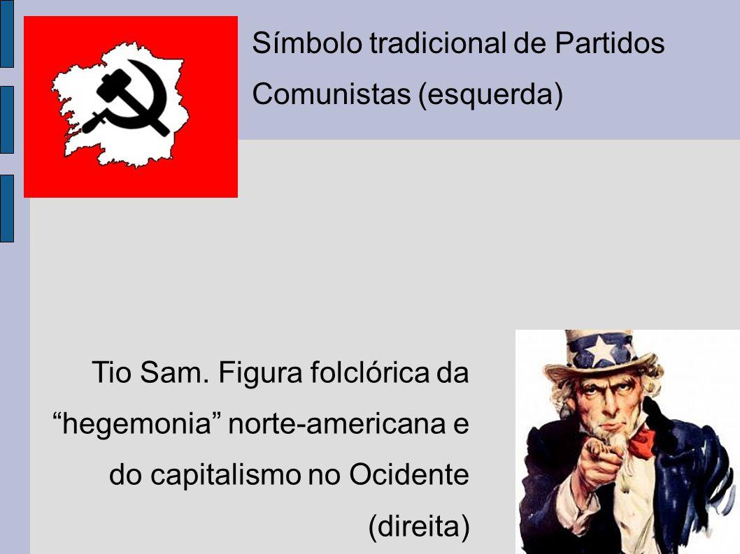 Símbolo tradicional de Partidos Comunistas (esquerda)
