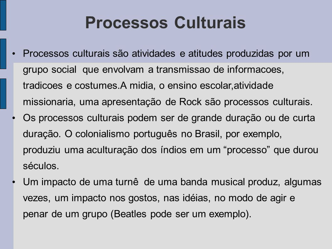Processos Culturais