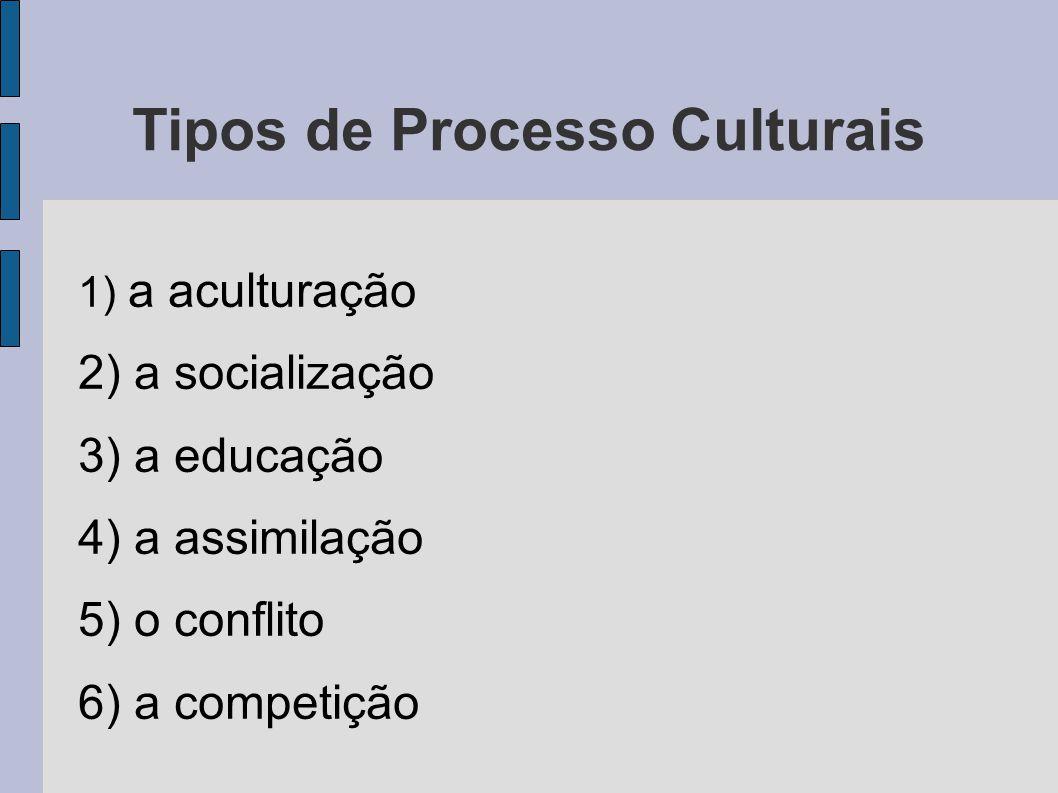 Tipos de Processo Culturais
