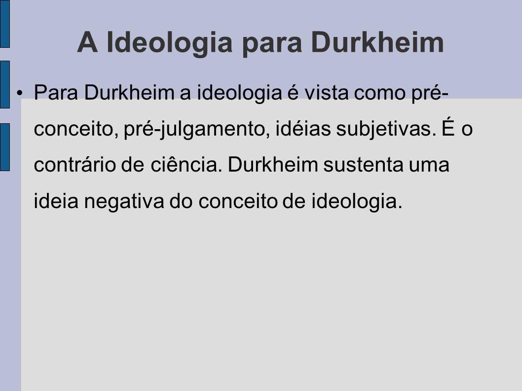 A Ideologia para Durkheim