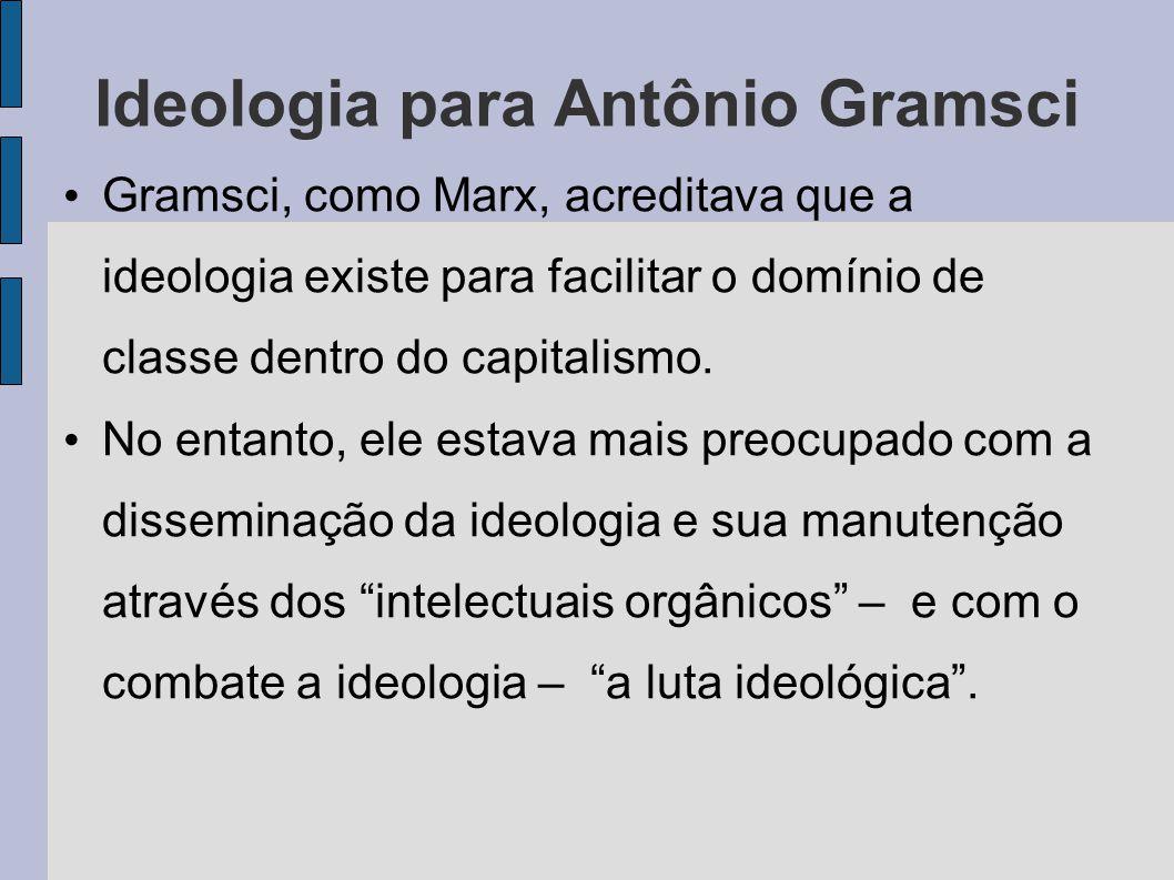 Ideologia para Antônio Gramsci