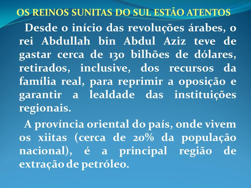 OS REINOS SUNITAS DO SUL ESTÃO ATENTOS