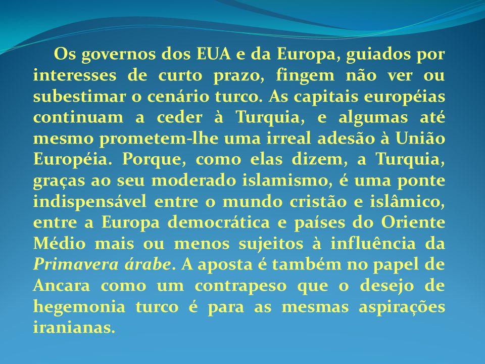 Os governos dos EUA e da Europa, guiados por interesses de curto prazo, fingem não ver ou subestimar o cenário turco.