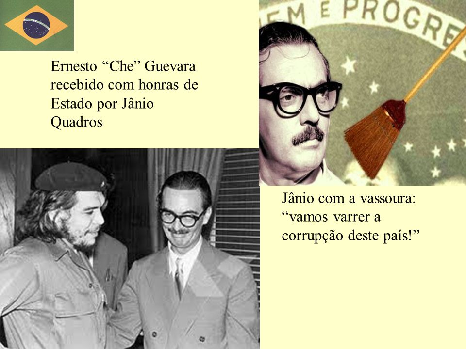 Ernesto Che Guevara recebido com honras de Estado por Jânio Quadros