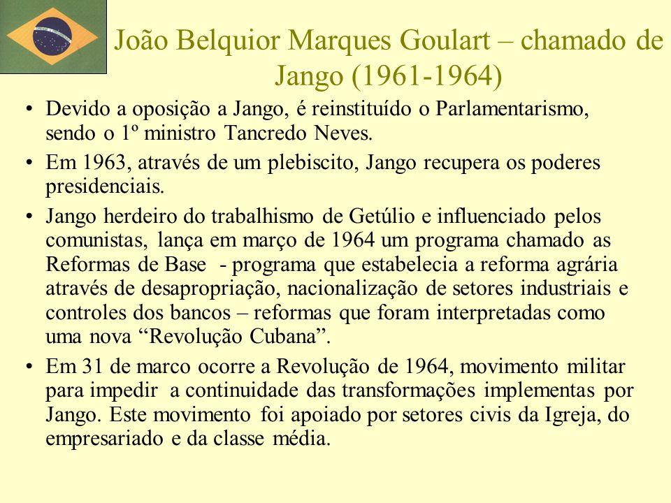 João Belquior Marques Goulart – chamado de Jango (1961-1964)