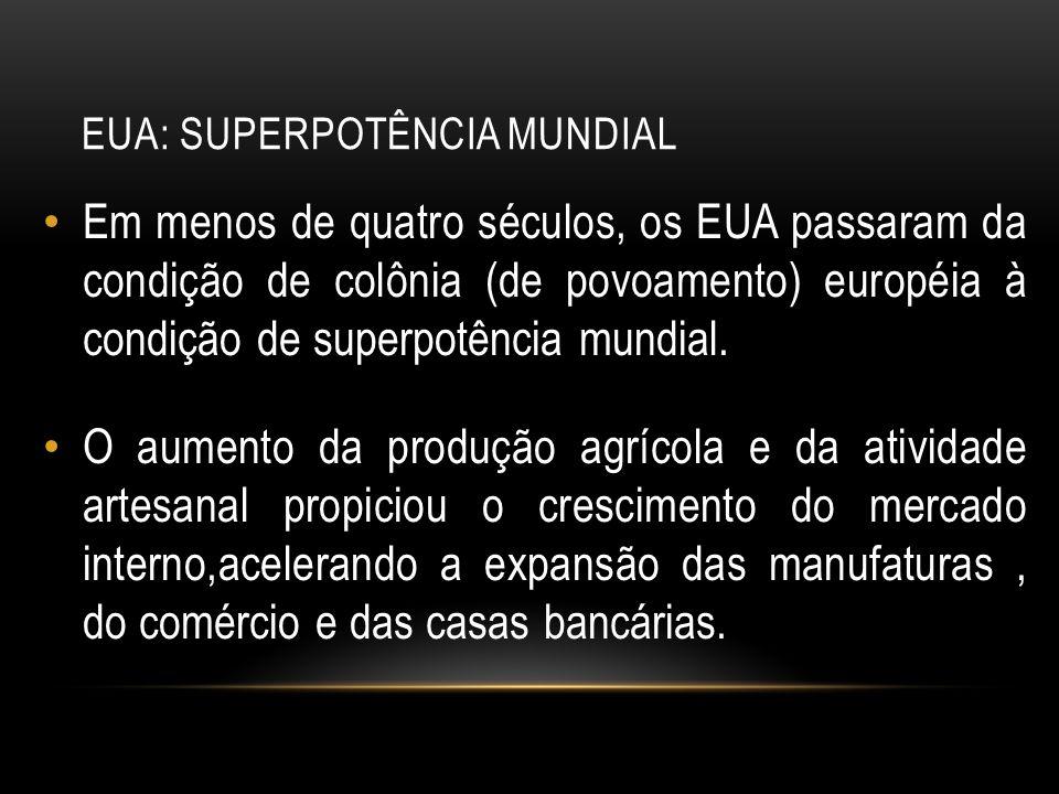 EUA: SUPERPOTÊNCIA MUNDIAL