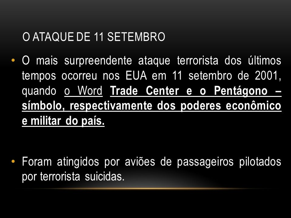 O Ataque de 11 Setembro