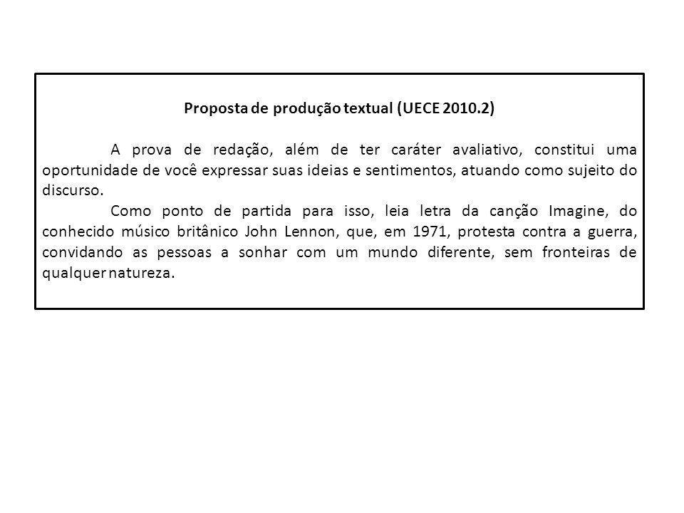 Proposta de produção textual (UECE 2010.2)