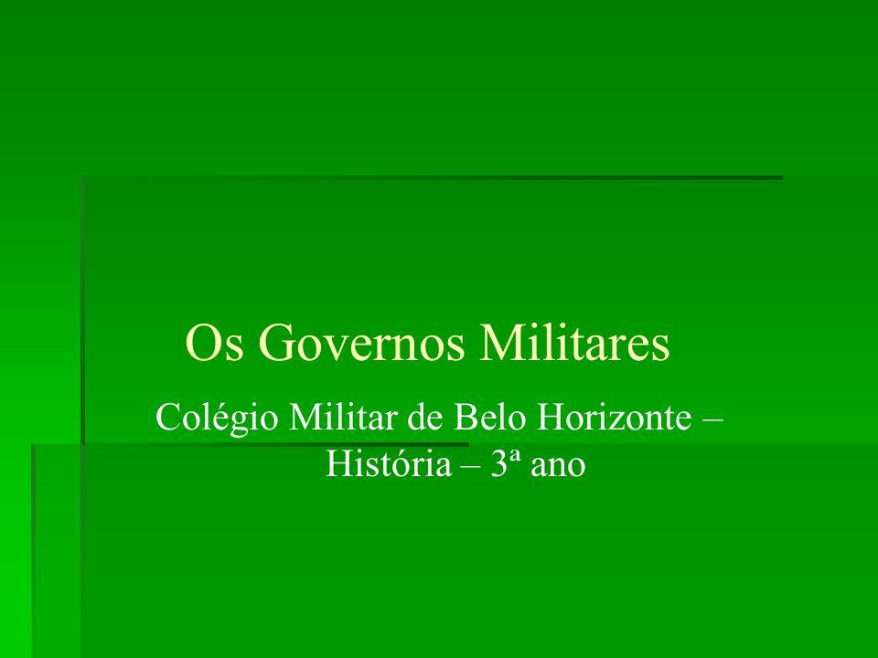 Colégio Militar de Belo Horizonte – História – 3ª ano