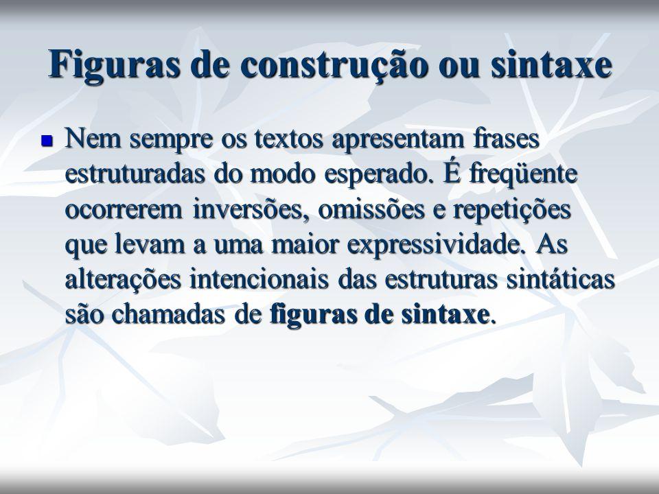 Figuras de construção ou sintaxe
