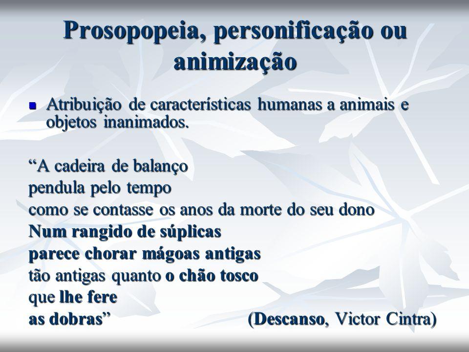 Prosopopeia, personificação ou animização
