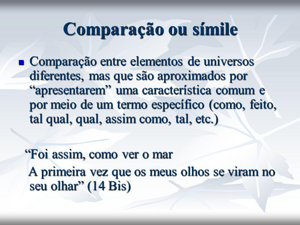 Comparação ou símile