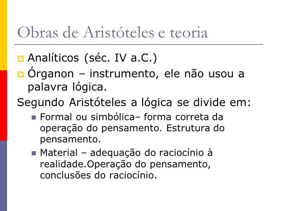 Obras de Aristóteles e teoria