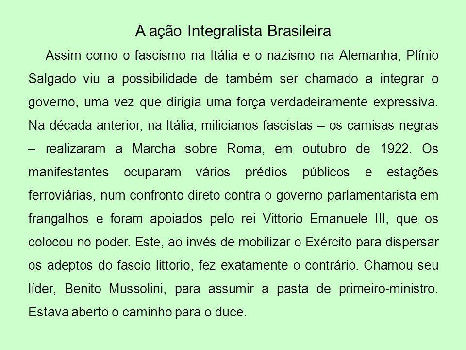 A ação Integralista Brasileira