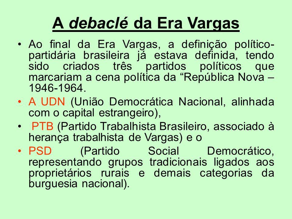 A debaclé da Era Vargas