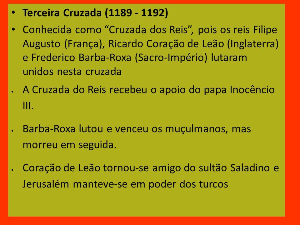 Terceira Cruzada (1189 - 1192)