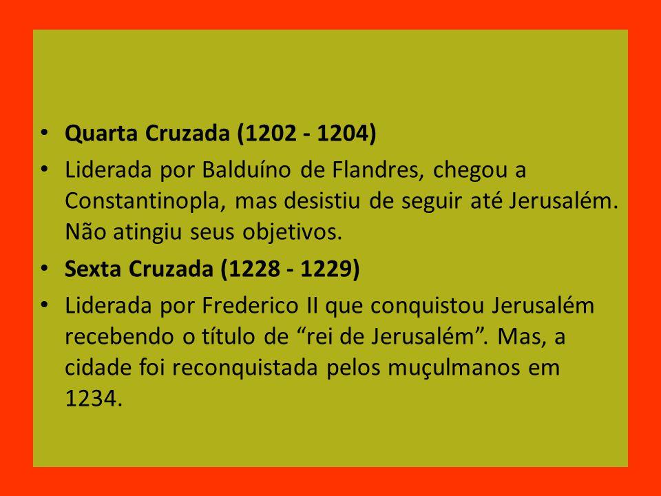 Quarta Cruzada (1202 - 1204)