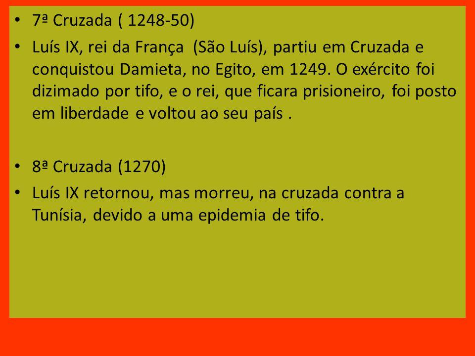 7ª Cruzada ( 1248-50)