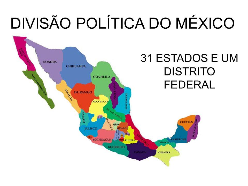 DIVISÃO POLÍTICA DO MÉXICO
