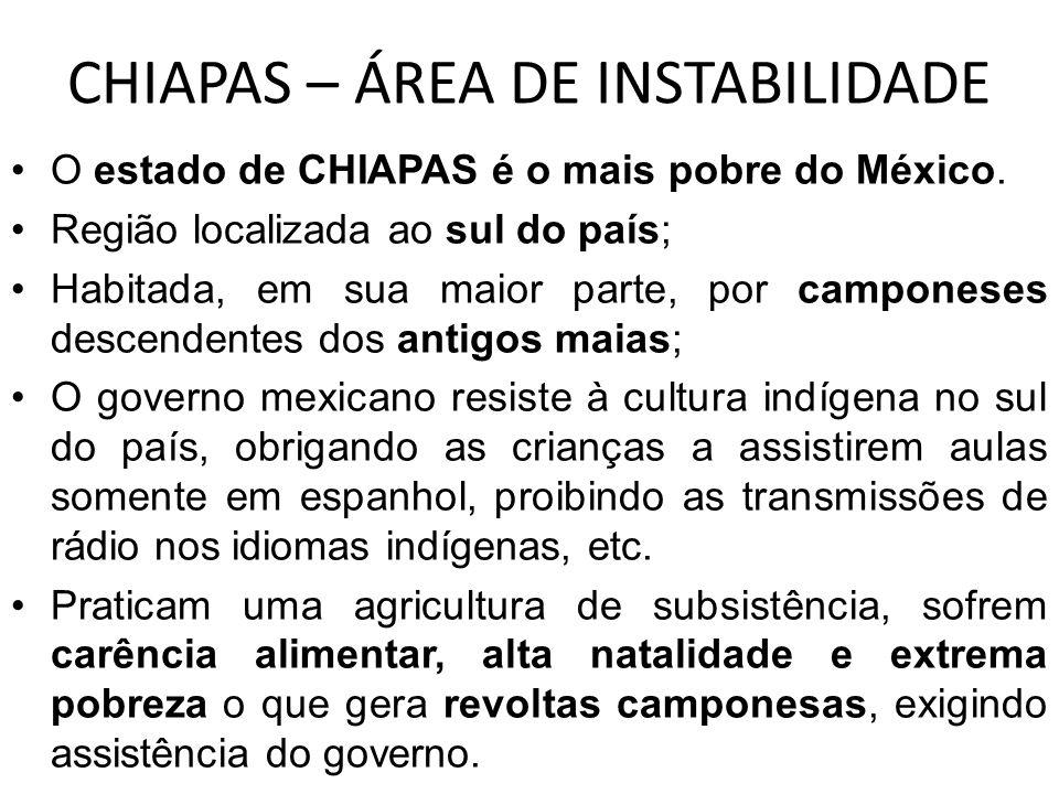 CHIAPAS – ÁREA DE INSTABILIDADE
