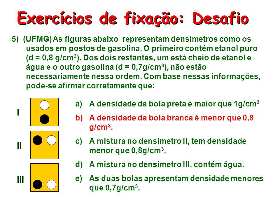 Exercícios de fixação: Desafio Exercícios de fixação: