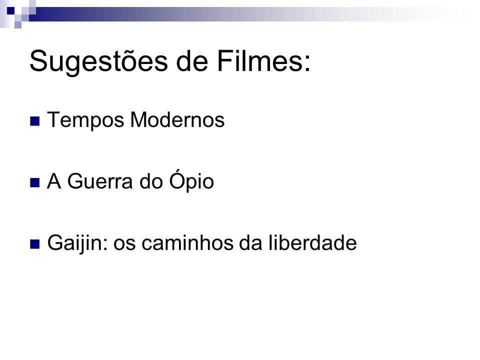 Sugestões de Filmes: Tempos Modernos A Guerra do Ópio
