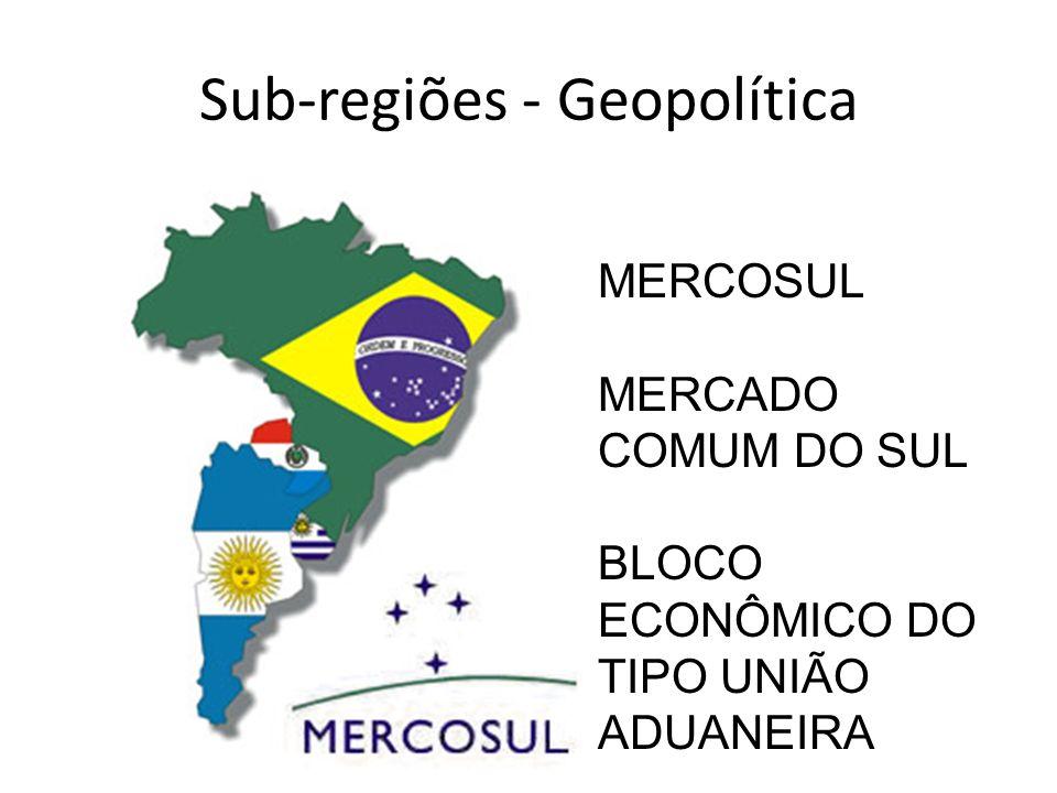 Sub-regiões - Geopolítica