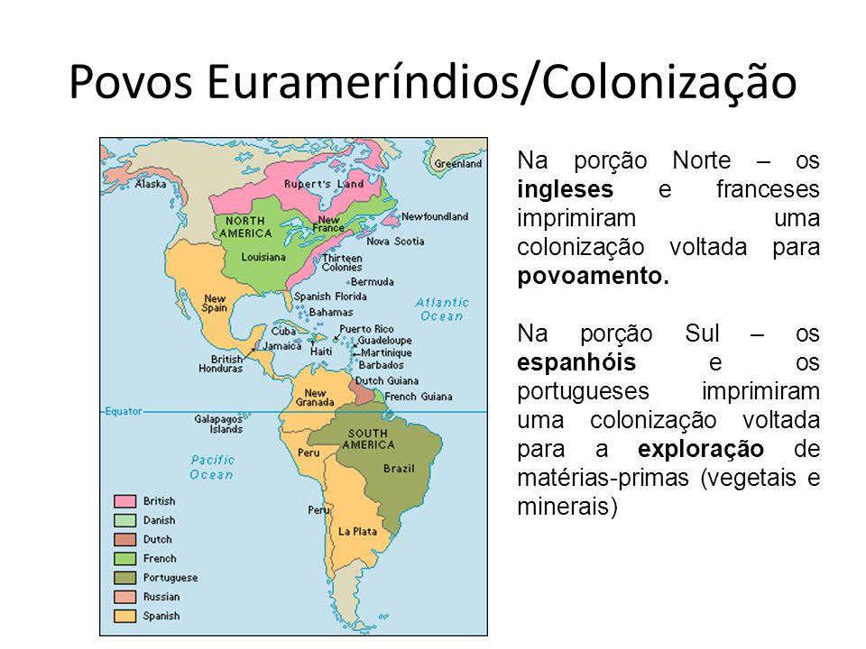 Povos Eurameríndios/Colonização