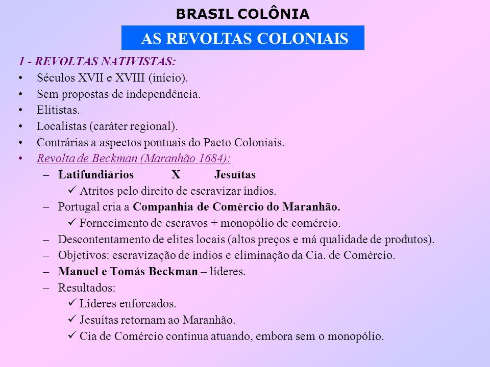 1 - REVOLTAS NATIVISTAS: