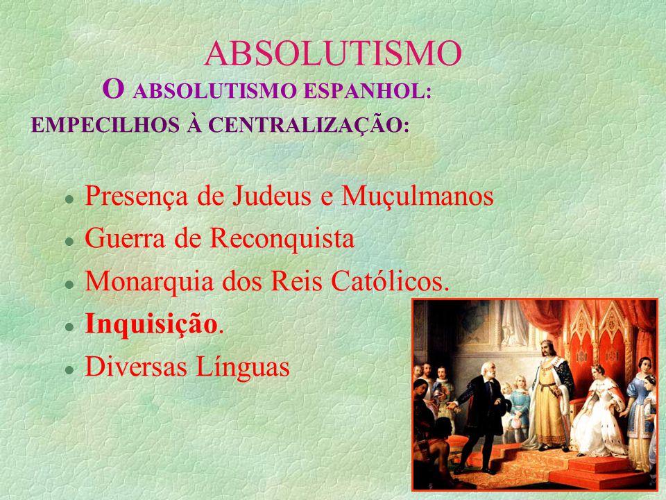 O ABSOLUTISMO ESPANHOL: