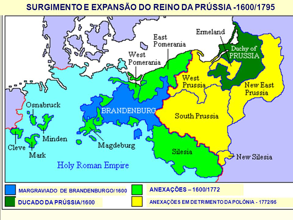 SURGIMENTO E EXPANSÃO DO REINO DA PRÚSSIA -1600/1795