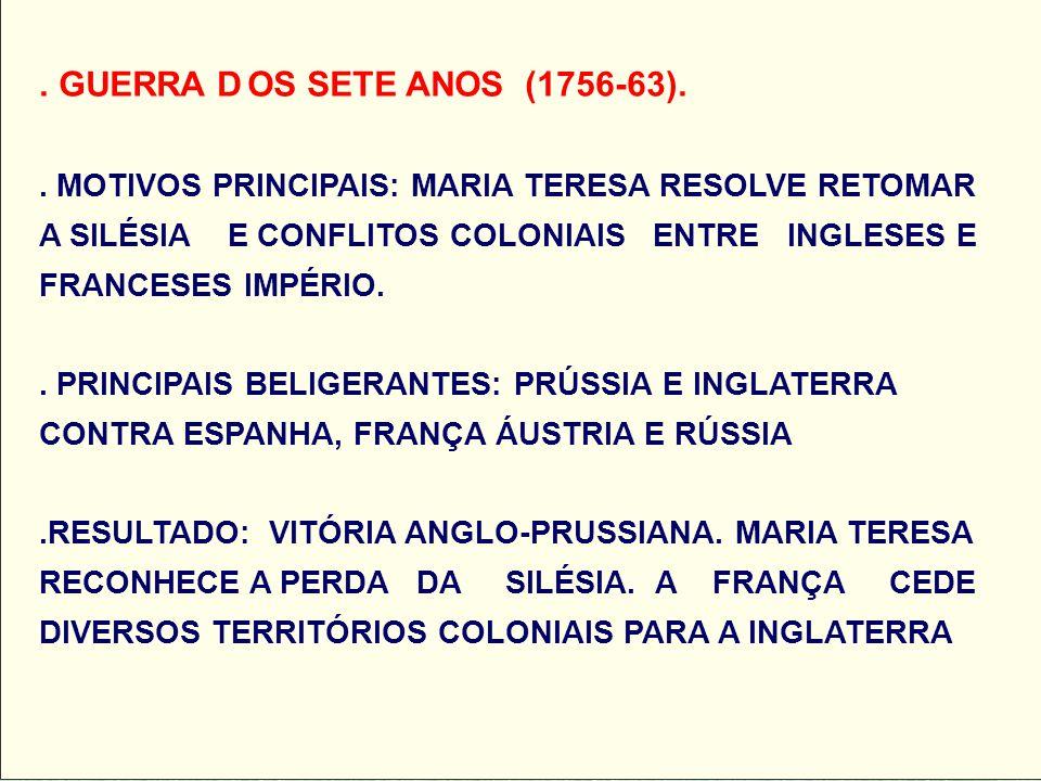 GUERRA D. OS SETE ANOS (1756-63)