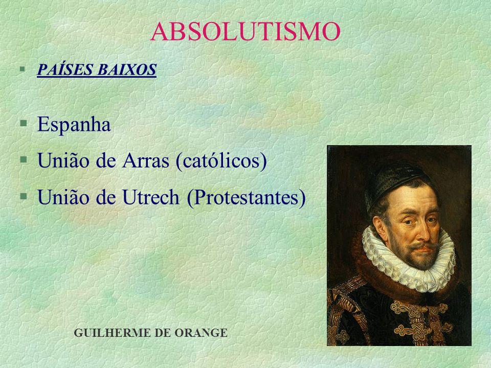 ABSOLUTISMO Espanha União de Arras (católicos)
