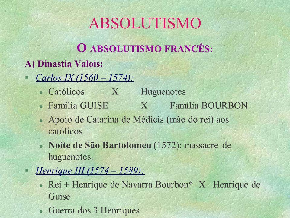 O ABSOLUTISMO FRANCÊS: