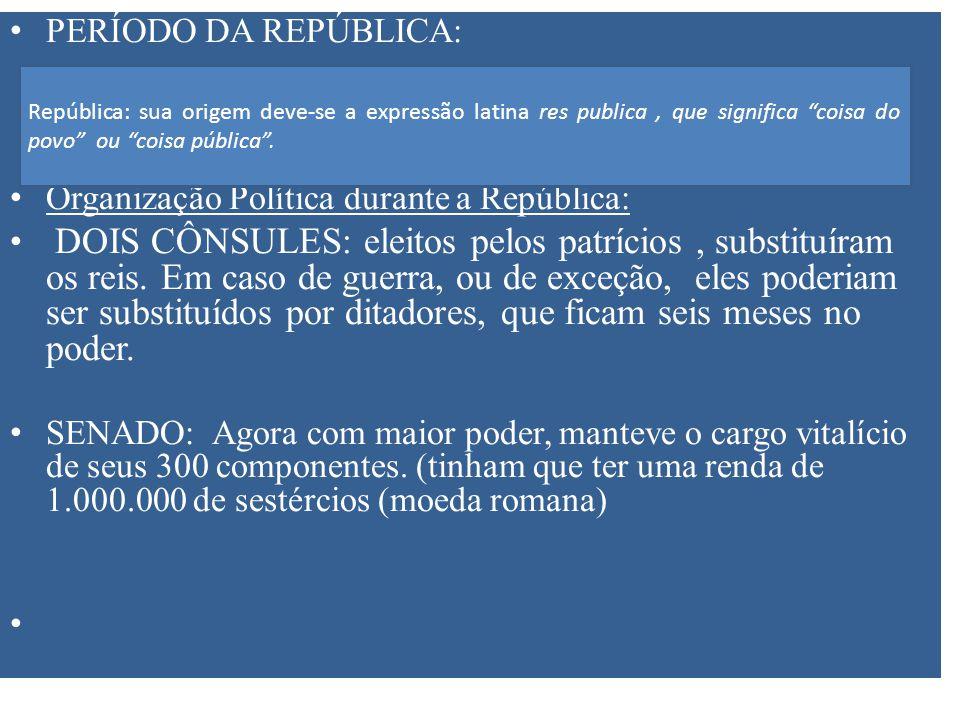 Organização Política durante a República: