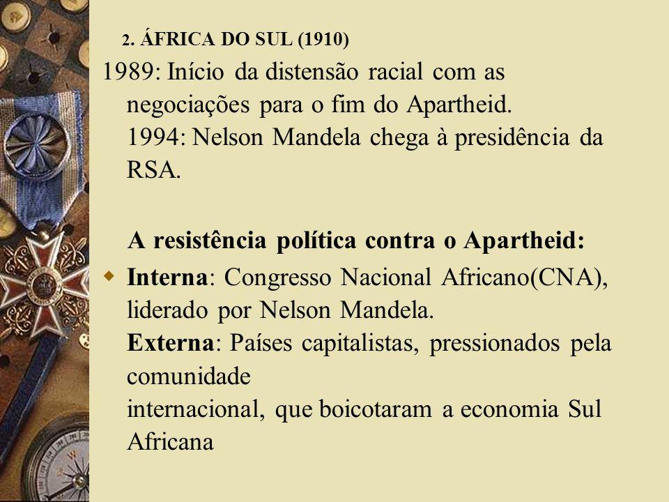 A resistência política contra o Apartheid: