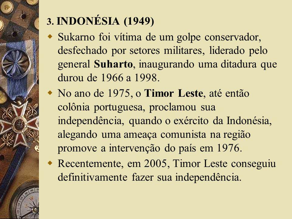 3. INDONÉSIA (1949)