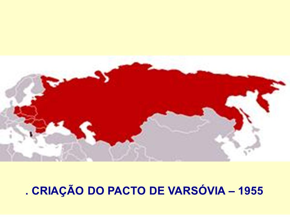 . CRIAÇÃO DO PACTO DE VARSÓVIA – 1955