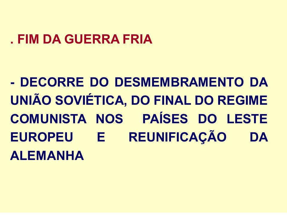 . FIM DA GUERRA FRIA