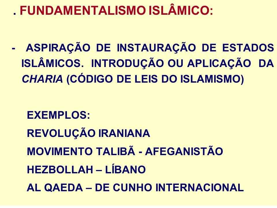 . FUNDAMENTALISMO ISLÂMICO: