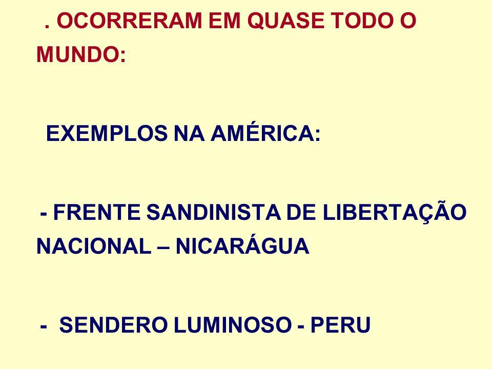 - FRENTE SANDINISTA DE LIBERTAÇÃO NACIONAL – NICARÁGUA