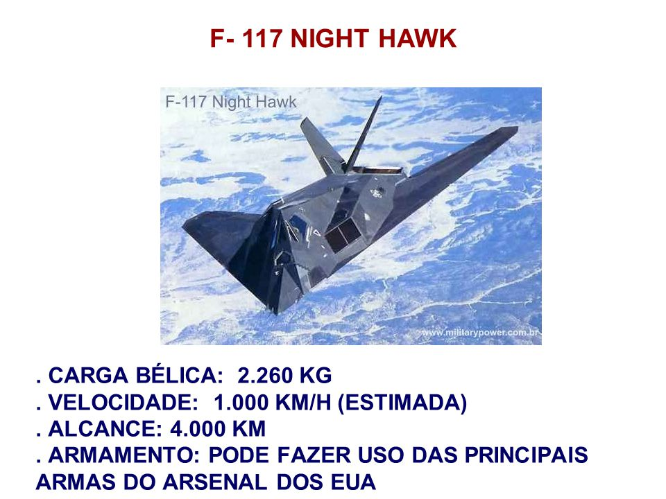 F- 117 NIGHT HAWK