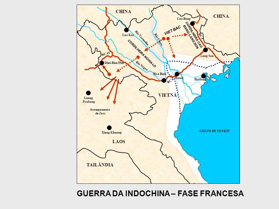 GUERRA DA INDOCHINA – FASE FRANCESA