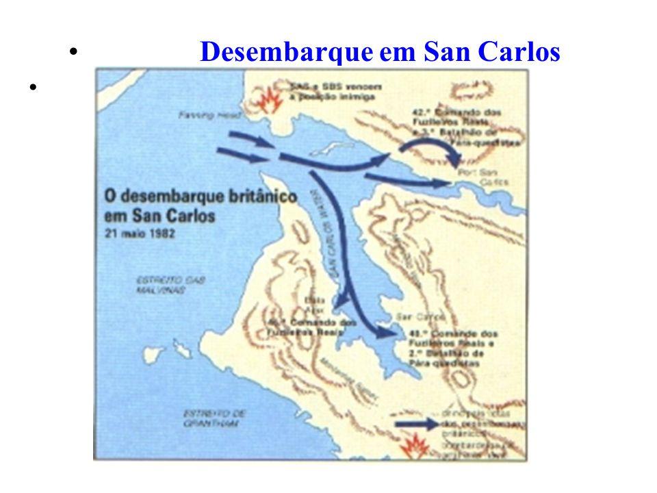 Desembarque em San Carlos