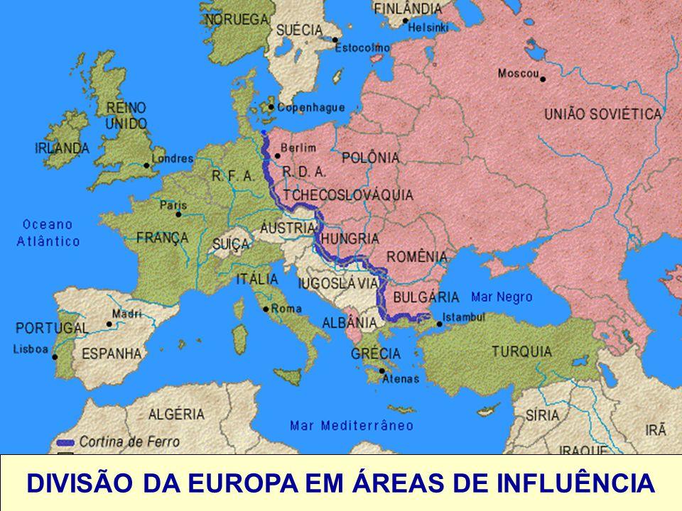DIVISÃO DA EUROPA EM ÁREAS DE INFLUÊNCIA